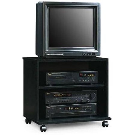 Sauder Black Rolling Tv Cart For Tvs Up To 26