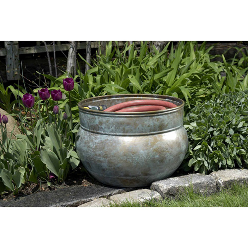 Good Directions Sonoma Hose Pot, Blue Verde Brass