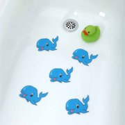 SlipX Solutions Adhesive Bath Treads: Whale Tub Tattoos (5 Count)