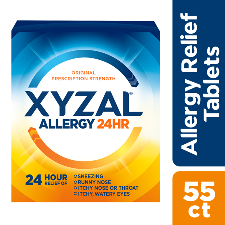 Xyzal 24hr Allergy Relief Antihistamine Tablets, 55 Ct