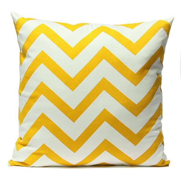 Meigar Stripe Zig Zag Pillowcase, Linen Cotton Square Shaped Decorative Pillowslip 18''X18'' ,Throw Pillow Cover Case for Sofa in Patio Garden Home Decor
