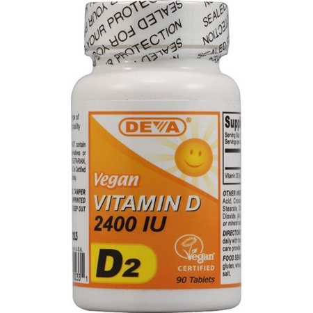 Deva Vegan Vitamins Vegan Vitamin D 2400 IU Tablets, 90 Ct