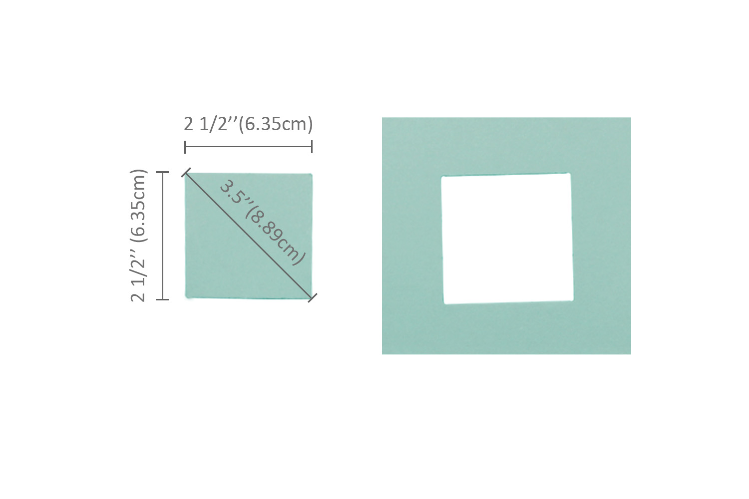 Bira 2.5 X 2.5 inch Square Lever Action Extra Large Craft Punch for Paper Crafting Scrapbooking 3.5 inch Square measured diagonally