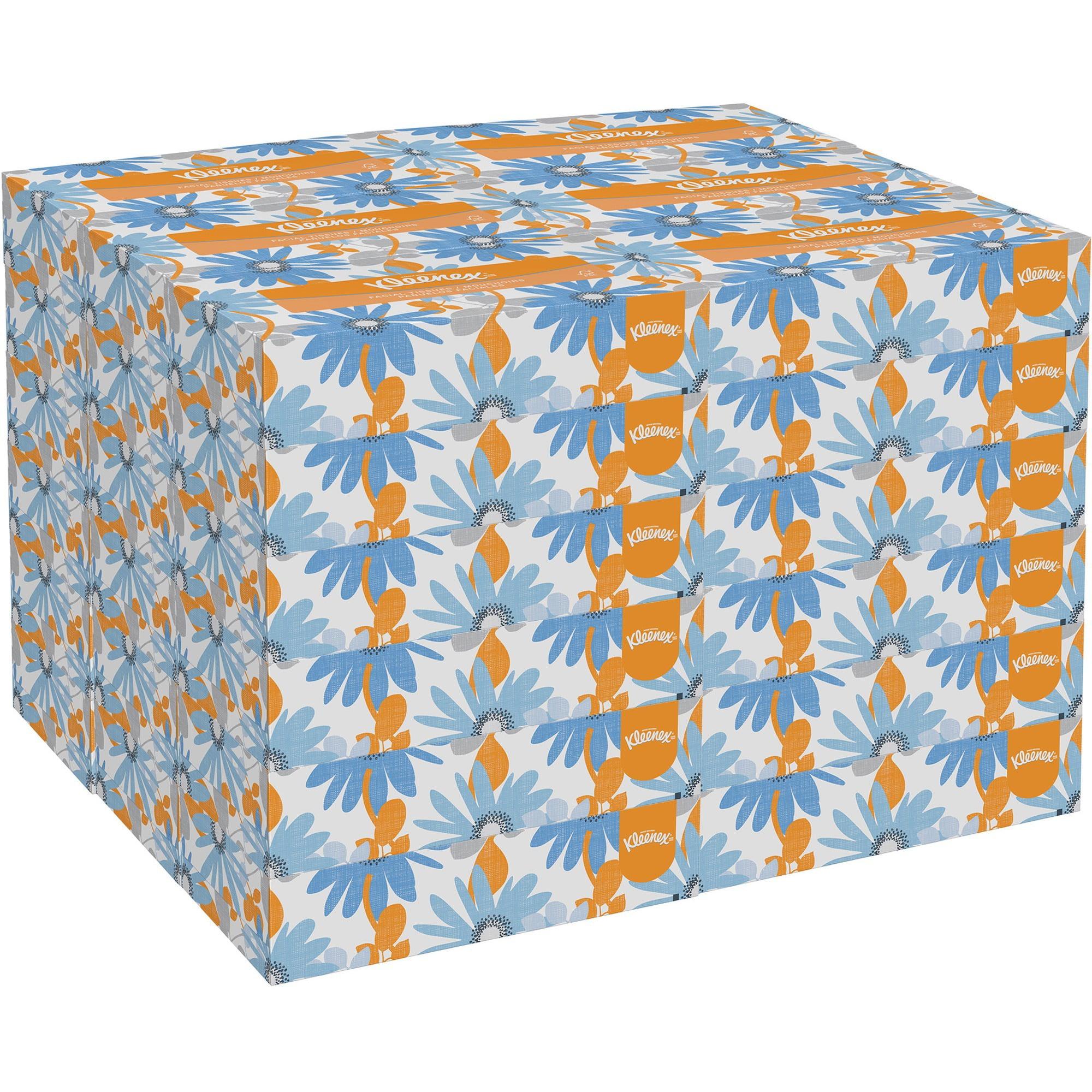 Kimberly-Clark, KCC21400, Kleenex 2-ply Facial Tissue, Gray
