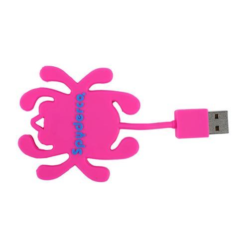 Spyderco USBPK Folding Knife USB Flash DrivePink Bug