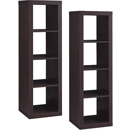 Better Homes and Gardens 4-Cube Organizer, Multiple Finishes, Set of 2