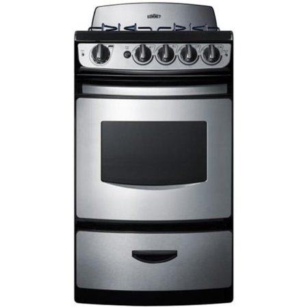 Summit PRO201SS 20 in. Wide Sealed Burner Gas Range, Stainless Steel - Replaces PRO200SS