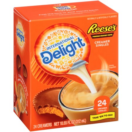 Liquid Creamer Cups - (6 Pack) International Delight Reese's Peanut Butter Cup Creamer Singles, 24 Ct