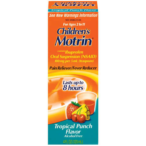 Motrin Tropical Punch Flavor Children's Ibuprofen Pain Reliever/Fever Reducer, 4 oz