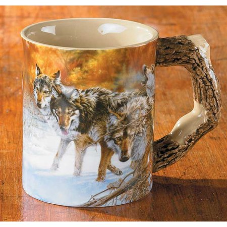 Wild Wings Body Language Wolf Sculpted Gift Mug Walmartcom