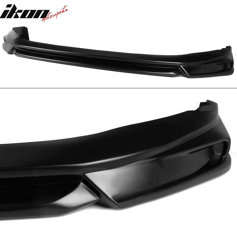 IKON Style Matte Black PP Front Chin Lip Bodykit By IKON MOTORSPORTS Front Bumper Lip Compatible With 2018-2020 Toyota Camry LE