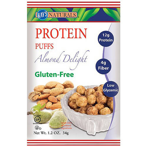 Kay's Naturals Gluten Free Almond Delight Protein Puffs, 1.2 oz, (Pack of 6)