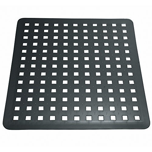 Interdesign Euro Kitchen Sink Protector Mat Regular Black 11in X