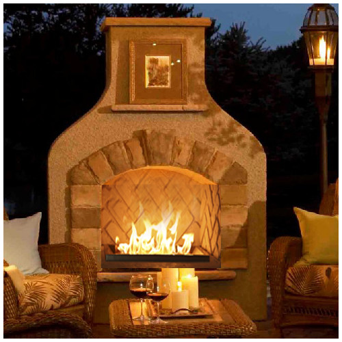 The Outdoor GreatRoom Company Sonoma Steel Gas Outdoor Fireplace by Outdoor Greatroom Company
