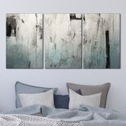 """wall26-3 Panel Canvas Wall Art - Abstract Grunge Color Compositon - Giclee Print Gallery Wrap Modern Home Decor Ready to Hang - 16""""x24"""" x 3 Panels"""