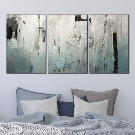 - wall26-3 Panel Canvas Wall Art - Abstract Grunge Color Compositon - Giclee Print Gallery Wrap Modern Home Decor Ready to Hang - 16