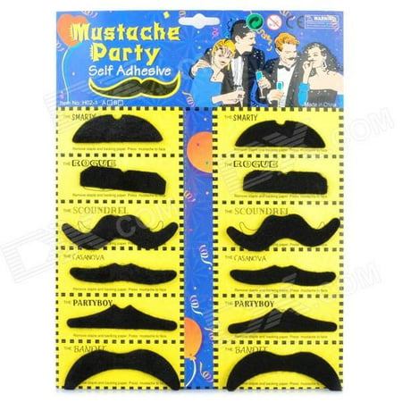 12 Self Adhesive Fake Moustache Mustache Stag Hen Fancy Party Dress accessories](Moustache Sale)