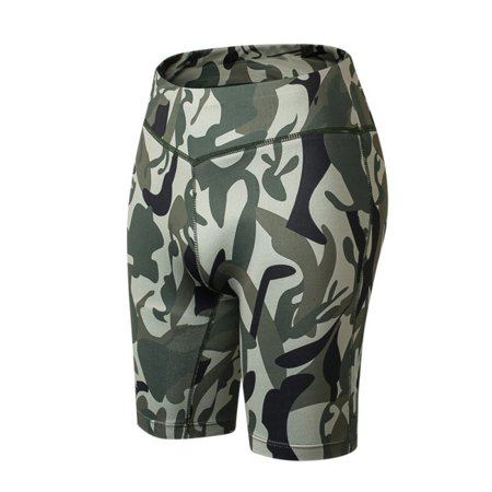ZEFINE Women's High Waist Tight Breathable Camouflage Reflective Night Running Fitness Yoga Training