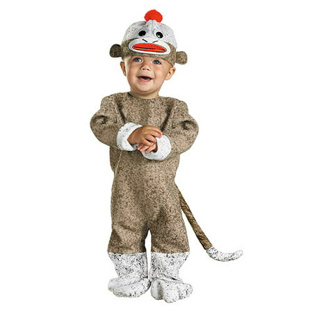 Sock Monkey Halloween Costume; 12-18M