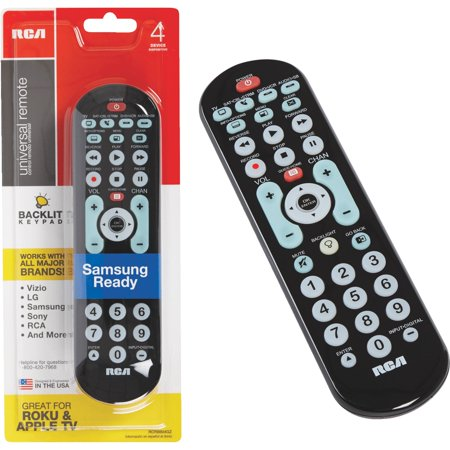 RCA RCRBB04GR 8-Device Big Button Universal Remote with Streaming & Dual Navi... (Dual Button)