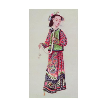 Japanese Empress in Imperial Costume Print Wall Art