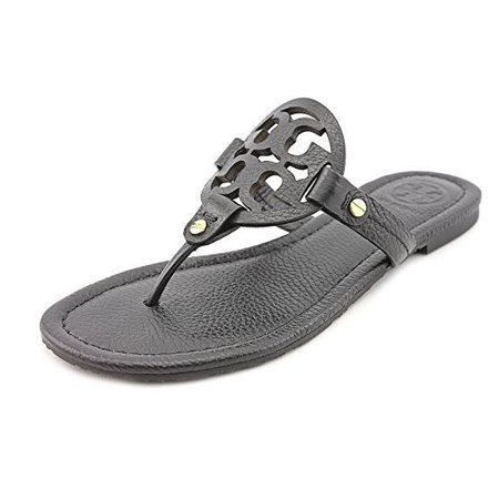 Tory Burch Women's Vachetta Leather Flat Thong Sandals - Miller
