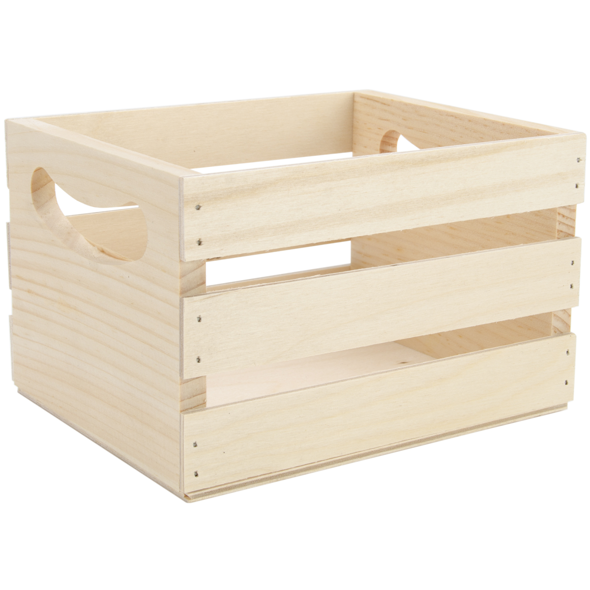 Mini Wooden Crate Whandles 65x53x425