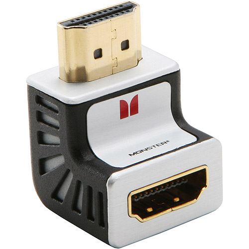 Monster Cable Advanced For HDMI 1080p 90 Degree Adapter No-Frills Pack
