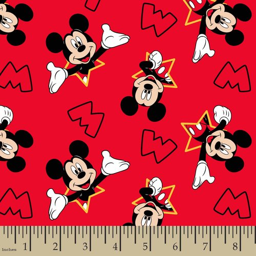 Disney Mickey And Stars Fabric by the Yard