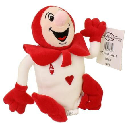 Disney Bean Bag Plush - RED CARD (Alice in Wonderland) (8 inch) - Alice In Wonderland Stuff