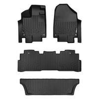 Maxliner 2018-2019 Honda Odyssey Floor Mats 3 Row Set Black A0325/B0325/C0325