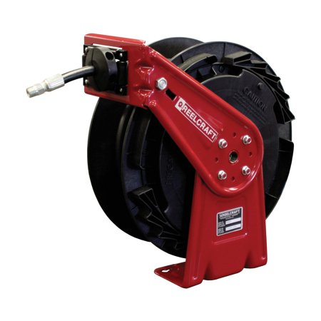 Reelcraft Medium Pressure Oil 1 2 In  Hose Reel   35 Ft