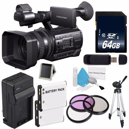 Sony HXR-NX100 NXCAM Camcorder (International Model no Warranty) + 64GB SDXC Class 10 Memory Card 6AVE Bundle (The Best Of Sonu Nigam)