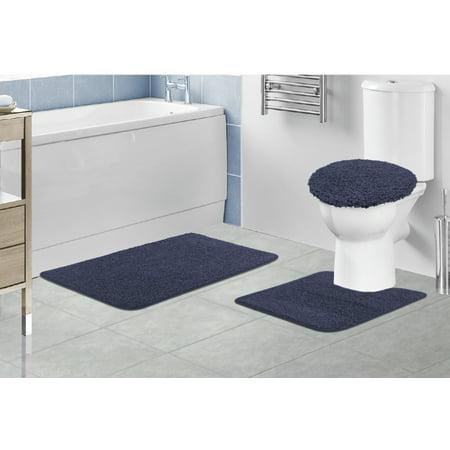 Layla Oversized 3 Piece Gy Bathroom Rug Set 21 X34 Bath Mat