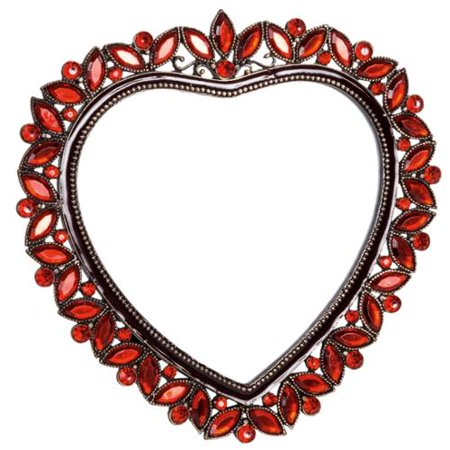 Welforth Red Rhinestone Heart Shape Photo Picture Frame 40 Ruby