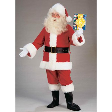 Santa Claus Adult Costume Deluxe Plush Suit
