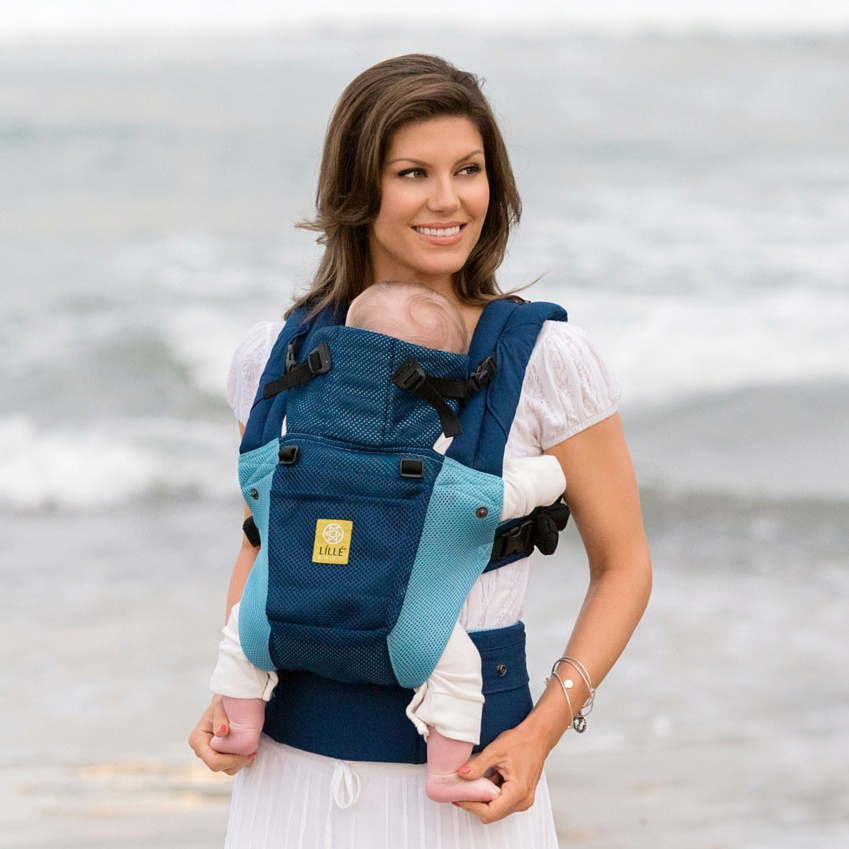 Click here to buy LILLEbaby Airflow Baby Carrier Blue Aqua by lillebaby.
