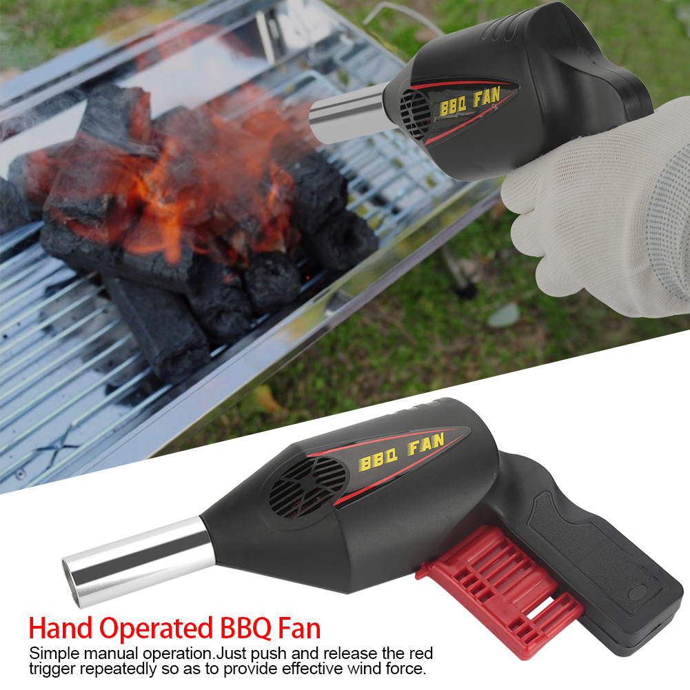 Portable Manual Operated BBQ Fan Air Blower for Outdoor Camping Picnic Grill Barbecue Tool, Air Blower, Fire Blower
