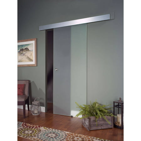 Opaque Glass Interior Barn Door