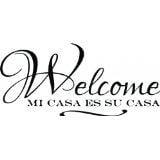 Halloween Quotes In Spanish (Custom Wall Decal Spanish Wall Quotes - 'Welcome Mi Casa Es Su Casa' - Vinyl Lettering s Sticker - Vinyl)