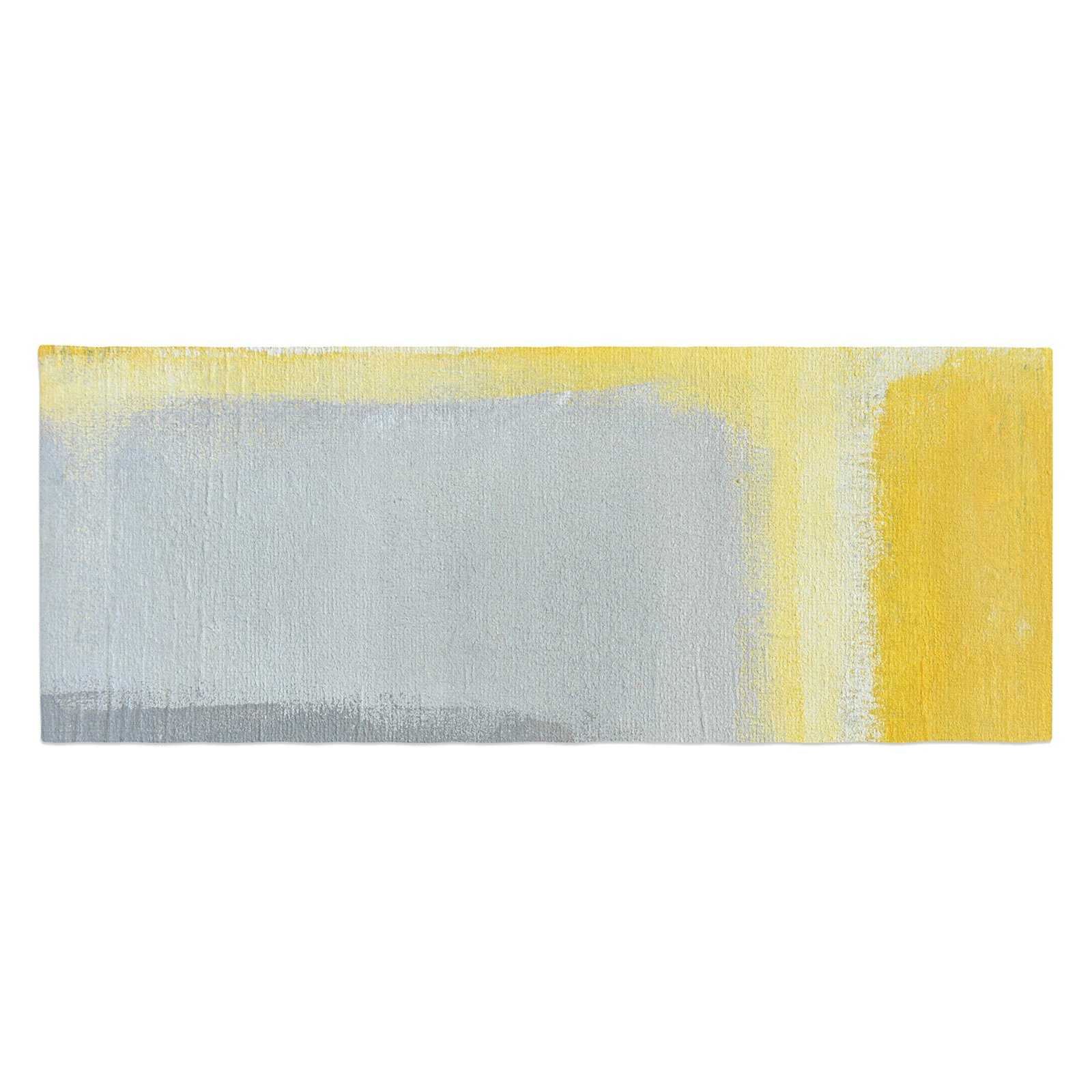 CarolLynn Tice Gray and Yellow Bed Runner by Kess InHouse