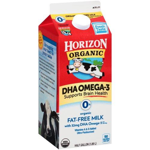 Horizon Organic 0% Fat-Free Milk, 0.5 gal