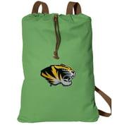 MIZZOU Drawstring Backpack NATURAL COTTON University of Missouri Cinch Bag