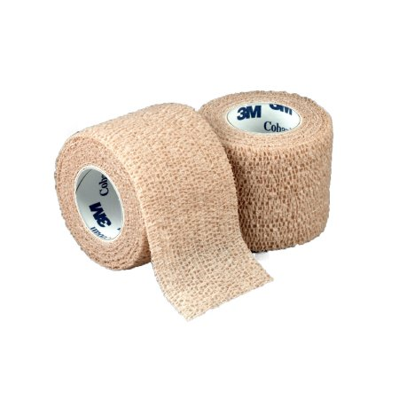 Compression Bandage Coban NonWoven Material / Elastic Fibers 3 Inch X 5 Yard NonSterile ''Pack of 24''