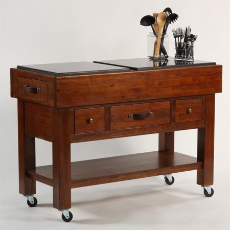 Hillsdale Outback Kitchen Island In Distressed Chestnut