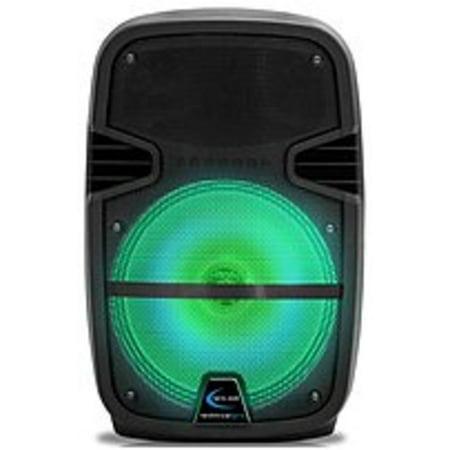 17eda7c6a5c Refurbished Technical Pro PB LED Series PB1550LED 15-inch Bluetooth  Rechargeable PA Speaker - 3000 Watts - Black - Walmart.com