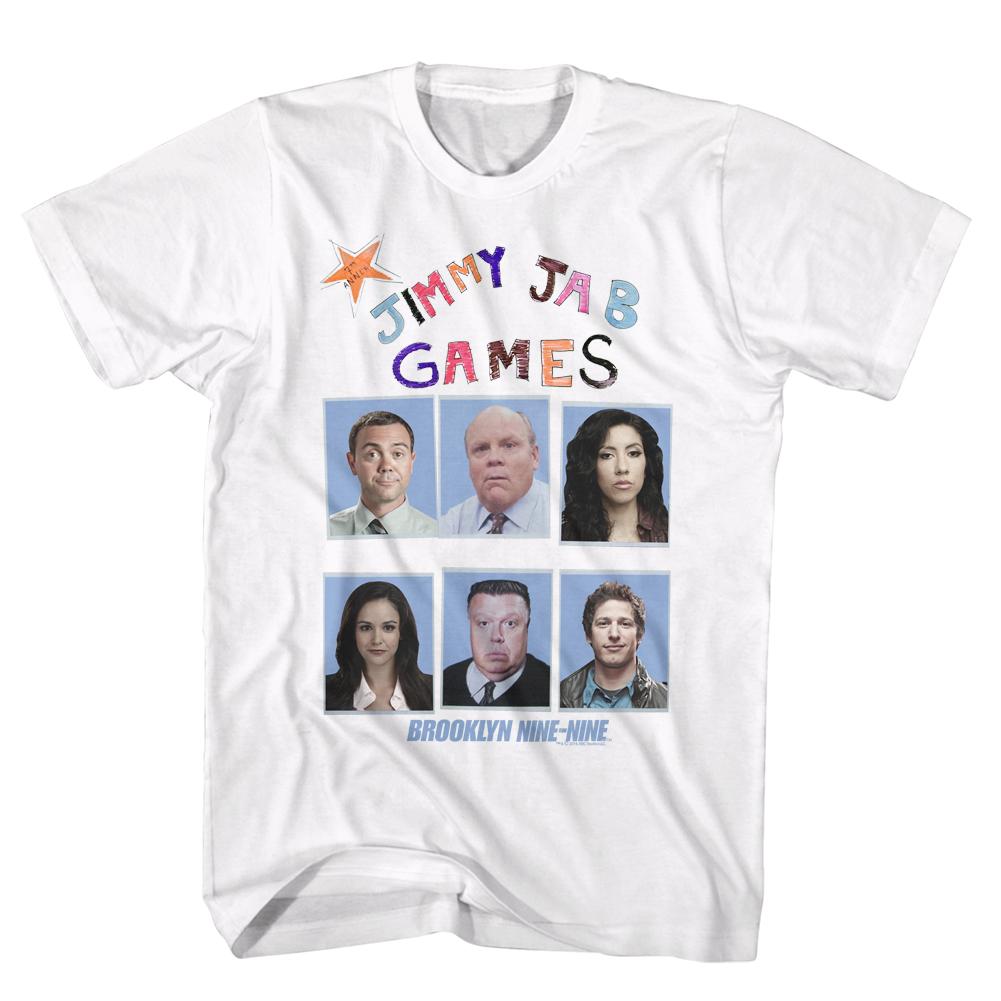 Brooklyn Nine-Nine Comedy TV Show Fox Series Jimmy Jab Games Adult T-Shirt Tee