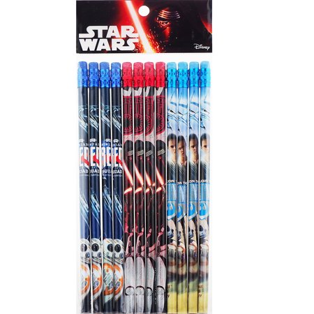 Star Wars 12 Wood Pencils Pack