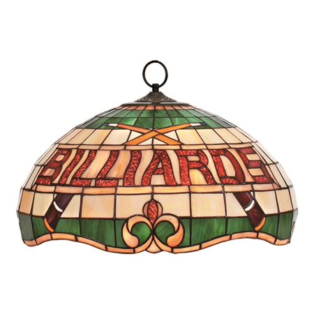 Stained Glass Billiard Light Shade - Billiards Stained Glass Shade Pendant
