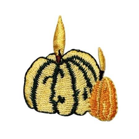 ID 1260 Pumpkins Candle Patch Halloween Decoration Embroidered Iron On - Halloween Pumpkin Patch